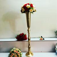 استخدام الزفاف طويل القامة الأسلحة الفضية والذهبية الشاي ضوء الشمعدانات شمعة حامل معدني