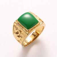 2018 nuovi anelli di design in oro 18K Gold Gemstone designer anelli di lusso può regolare i gioielli anello uomo