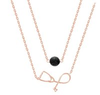 New Multicamadas estetoscópio Lava-rock Bead Pendant colares essencial de Aromatherapy Difusor Oil colares Presente da enfermeira Doutor