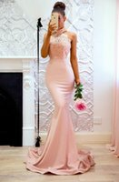 Cheap High Neck Mermaid Halter Prom Dresses Sexy Open Backle...