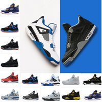 2018 men 4 Basketball shoes Military Motosports blue Alterna...