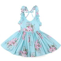 Baby Girls Dress Brand Summer Beach Style Floral Print Party...