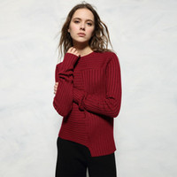 Women Fashion Diagonal Rib Wool Blended Pullover Sweaters Ov...