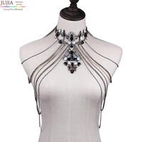 Всего saleJUJIA сексуального тела женщина ожерелья кисточка Boho ожерелье 2017 новые женское заявление цепь плеча