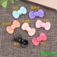 25*13mm KT bow tie resin bowknot charms jewelry butter cream...