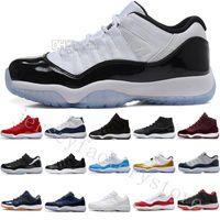 2018 Nouvelle arrivée mens Basketball Chaussures 11 UNC Gym Rouge espace confiture 45 haute qualité 11 s femmes Sneakers taille US 5.5-13 Eur 36-47 livraison gratuite