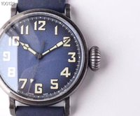 New style fashion mens watch blue dial blue crocodile leathe...