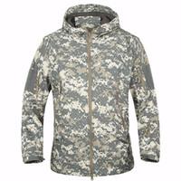 Alta calidad TAD piel de tiburón chaqueta de camuflaje militar al aire libre de la chaqueta de los hombres táctica impermeable de Softshell Deporte sudaderas Ejército de caza al aire libre