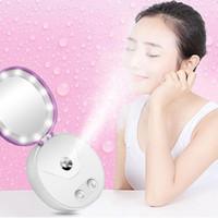 Multi funkcjonalne przenośne makijaż kosmetyczne lustrzane lustro nano mgła opryskiwacza na twarz parowiec nawilżający twarz mocy