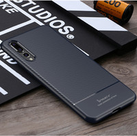iPaky Case For Huawei P20 Pro Lite Carbon Fiber Back Cover S...