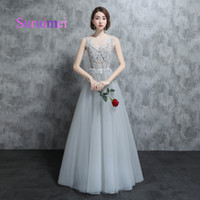 Real Samples 2018 A Line Scoop Prom Dresses Robe de Soiree A...