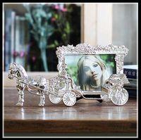 Classique Cheval Chariot Cadres Photo pour Photo Européen Cadre Photo Décor Tableau Cadeaux De Noël ElimElim