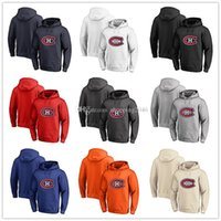 Men's Montreal Canadiens Fanatics con marchio Black Ash White Red Orange ricamo Primary Logo Pullover Felpe a maniche lunghe Outdoor Wear