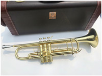 Trompete chapeado ouro profissional do instrumento musical da trombeta do Bach LT197GS-77 Bb