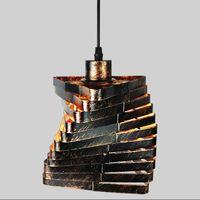 Loft Industrial Colgante Luces Vintage Edison Lámpara colgante E27 110 220V Lámparas colgantes para la decoración del hogar Restaurante Luminaria
