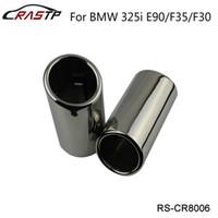 Rastp-جودة عالية كروم 304 الفولاذ المقاوم للصدأ كاتم الصوت العادم نصيحة لسيارات BMW 325i E90 / F35 / F30 RS-CR8006