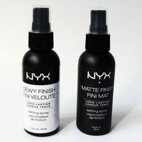 Hot !12pcs lot NYX Matte Finish Fini Mat NYX Dewy Finish Fini Veloute Matte Finish Makeup Setting Spray Long lasting Setting Spray 60ML
