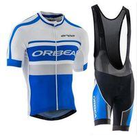 Новый Orbea Tour de France France Велосипедежные изделия Установите рубашку с коротким рукавом и гель-панелью нагруппу / шорты костюмы QuickDry Men Велосипеда Спортивная одежда 030620