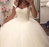 vestido de noiva Ball Gown Off The Shoulder Sleeveless Plus ...