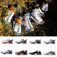 2018 Human Race Creme x Chaussures de course NERD Solar PacK Pharrell Williams Afro Hu