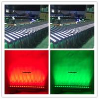 2 Stück Außenbeleuchtung LED Wandfluter LED 18x18w RGBWAP 6in1 DMX512 Wasserdicht IP65 Wasch LED bar UV-LED-wash Bar