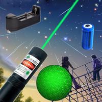 Liga de alumínio 2em1 Caneta Laser Pointer 10Miles Estrela Verde Cap Astronomia 532nm Engraçado Brinquedo Cat Recarregável + 16340 Bateria + Carregador Inteligente
