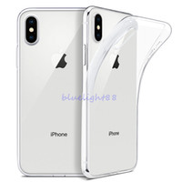 Custodia TPU IPhone XR XS MAX X 8 Plus Trasparente 0.3 MM per Samsung Galaxy S9 Plus Nota 9 Cover morbida