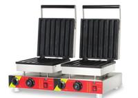 110v 220v waffle stick maker máquina churros eléctricos de doble cabeza comercial wafle churros que hace la máquina NUEVO
