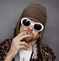 Clout Goggles Nirvana Kurt Cobain Gözlükleri Alien Güneş Gözlüğü Klasik Vintage Retro Oval Moda Süperstar Tarzı Punk Kaya Gözlük 19 Renkler