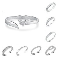 9f0ea56a71e1 925 brazaletes de plata esterlina para mujeres hombres joyería de mano  abierta pulsera de moda bohemia estilo chino pulseras brazaletes ajustables  ...