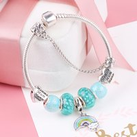 dodocharms Arrive Rainbow Pendant Charm Bracelet With Murano...