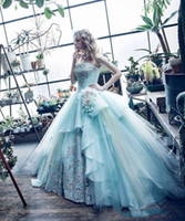 2018 Mint Green Ball Gown Quinceanera Dresses Gowns Princess...