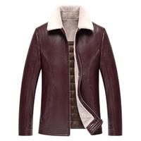 1723 nuevo de la manera Escudo 2017 Hombre invierno de la piel de la chaqueta ropa engrosamiento invierno de los hombres capa de cuero
