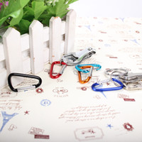 Mix Color Aluminum Alloy Carabiner Key Ring Camping Clip Str...