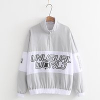 Stampa femminile Lettera Color Block Patchwork Pullover Giacche Uomo Stand Collo Zip Up Track Giacca casual Autunno Uomo Hip Hop Streetwear Uomo