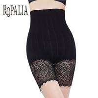Mutandine da donna Ropalia Safety Short Pants Girls Care Control Control Elastico Body Slimming Belly High Vita Slip Slip Pantaloni in pizzo intimati