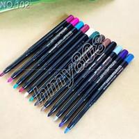 Colori impermeabili Eyeliner Matita per ombretti Matita rotativa automatica Penna multiuso 12 Colori diversi in un pacchetto