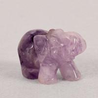 DingSheng Quarzo Cristallo Naturale Pietra Ametista Elefante Howlite Statuetta Scultura Pietra Longevità Turchese Guarigione Pietre Reiki Craft
