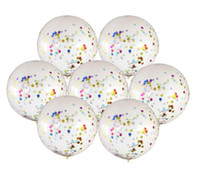 36 Inch Latex Balloons Giant Confetti Balon Big Clear Inflat...