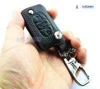 Etui clé en cuir véritable pour Peugeot 3 boutons 607 RCZ 207 407 408 407 Coupe 308sw ADDAN accessoires de voiture couvercle de la clé