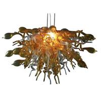 Индивидуальные ручные лампы лампы люстры светлые светодиодные лампочки янтарные стекло современное искусство Италия разработана люстра для домашнего декора