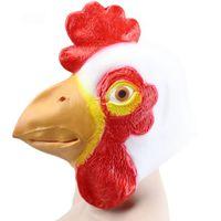 Hanzi_masks Horoz Cadılar Bayramı Maskesi Tam Yüz Lateks Maske Cadılar Bayramı Partisi Maskeleri Için Shar Pei Hood