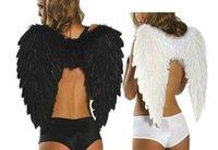 Feather Angel Wing Stage Perform Bianco Nero Fotografia Accessori Accessori Halloween Adult Ball Prop Forniture di nozze Decorazioni per feste