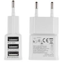 EU 5V 2A Freies verschiffen heiß-verkauf 3 Ports EU Stecker USB Wand Reise AC Ladegerät Adapter für PhoneXS X 8 7 6 5 für Samsung HUAWEI
