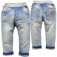 3754 4 years kids jeans baby boy jeans light blue spring aut...