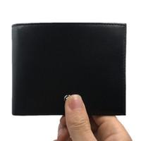 100% cuero genuino hombres billetera corta suave estándar titular de la tarjeta diseñador billetera billetera de cuero de vaca monedero de los hombres 2018 nuevas llegadas moda