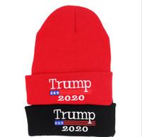 3a85b36ec8f Wholesale sports beanies online - Trump Beanies Cap Outdoor Presidential  Election Hat Letter Warm Headwear Knitting