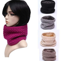Knitted Woolen Yarn Warm Winter Fleece Scarf Neck Warmer For...