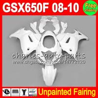 8Gifts Unpainted Full Fairing Kit For SUZUKI GSX650F 2008-2010 GSX 650F GSXF650 GSXF 650 08 09 10 2008 2009 2010 Fairings Bodywork Body KIT