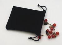 Бархат черный чистый цветные сумки женщины винтажная сумка для подарков DIY Handmade Ювелирные изделия Упаковка